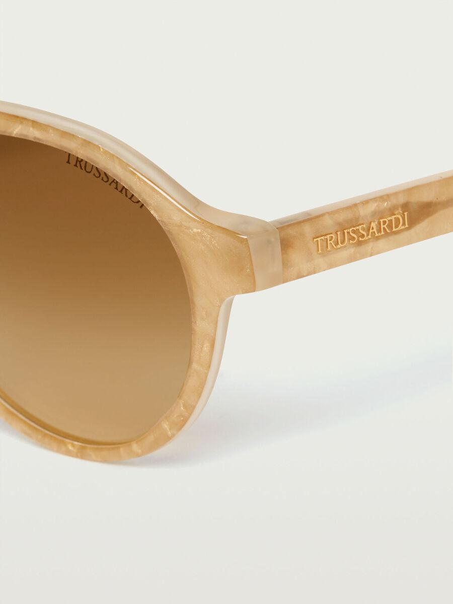 Glossy-frame aviator sunglasses