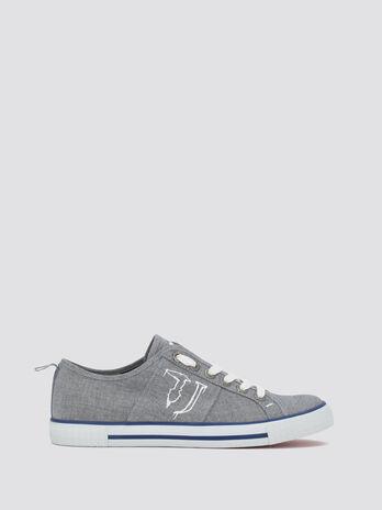 Sneakers a logo effet spray