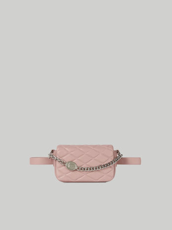 Daisy belt bag in quilted faux leather