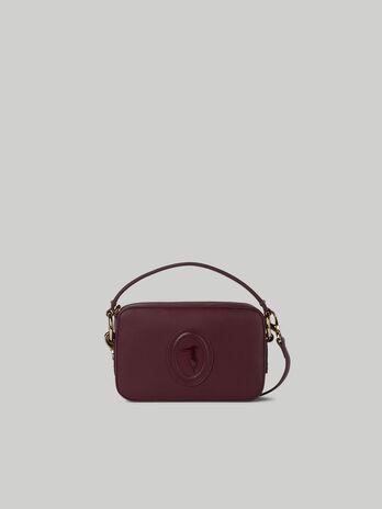 Lisbona camera bag with deerskin print