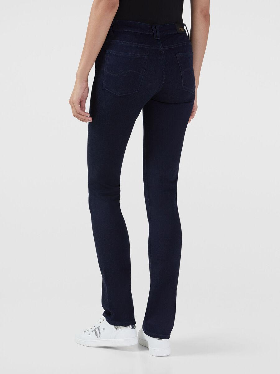 Classic 130 jeans in stretch satin denim