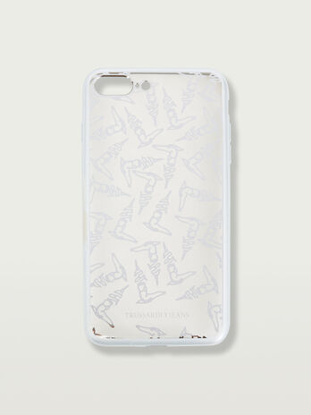 iPhone 7 Plus soft case with greyhound detail