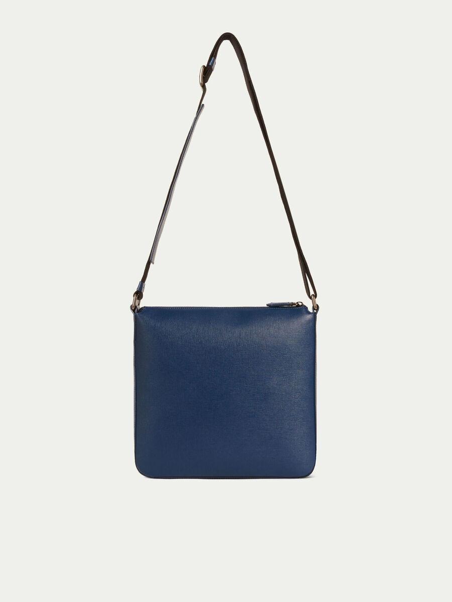 Saffiano print leather small crossbody bag