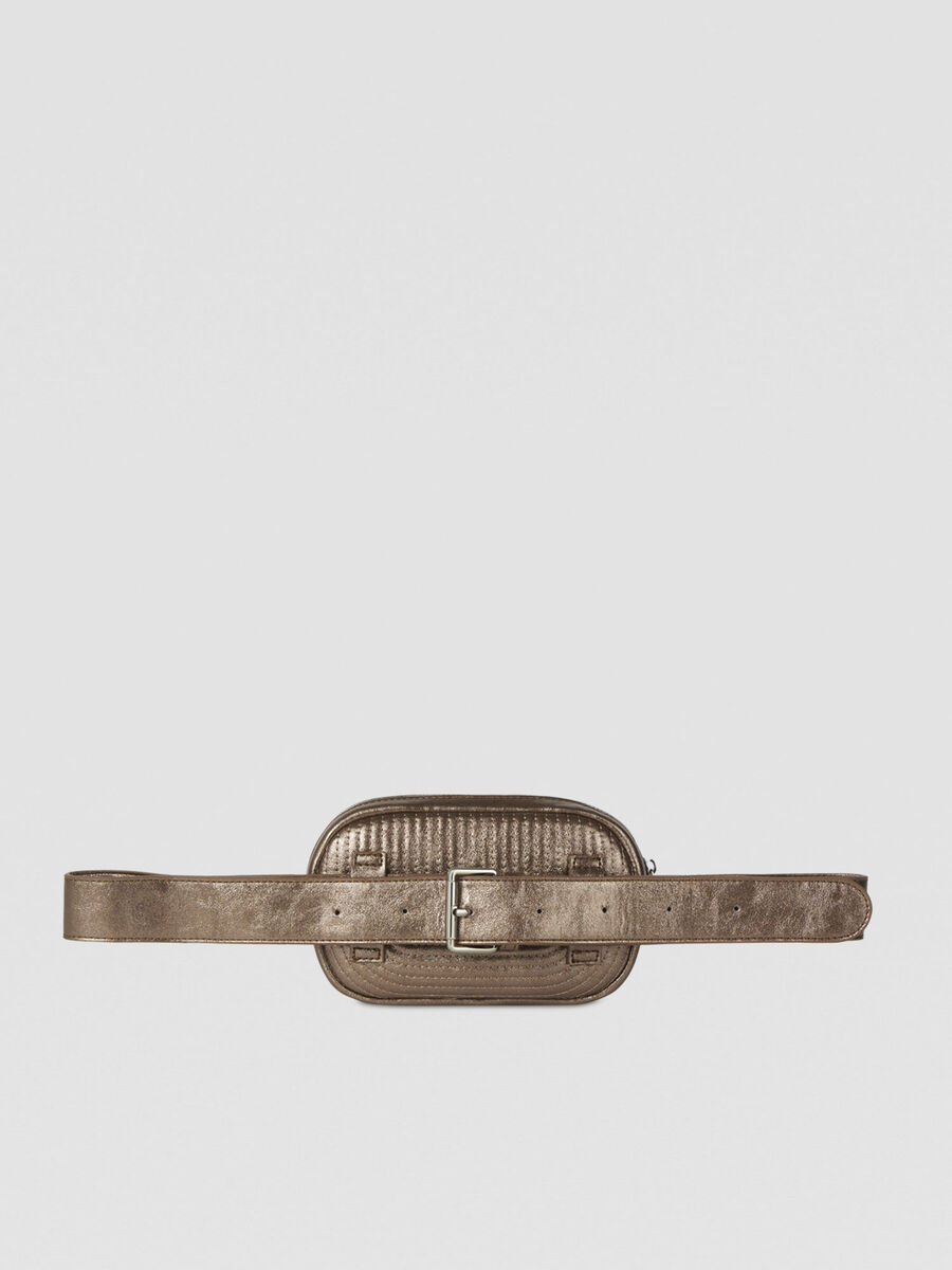 Frida belt bag in laminated faux leather