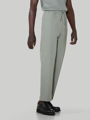 Technical cotton jogging bottoms