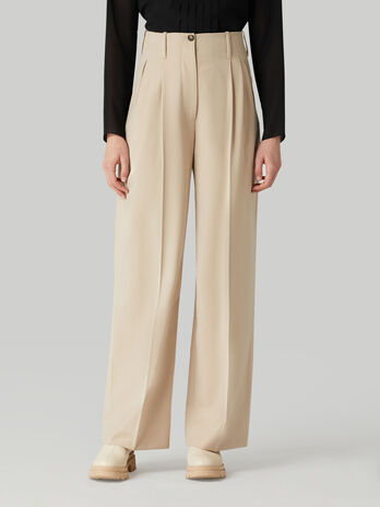 Pantalon de franela de mezcla de lana