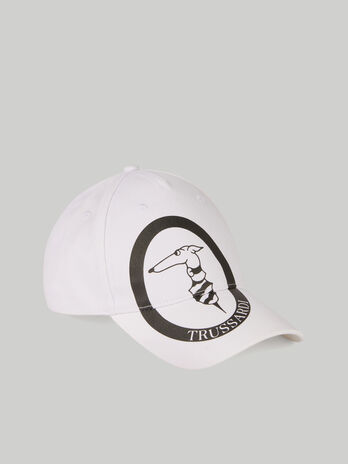 Cotton baseball cap with monogram logo