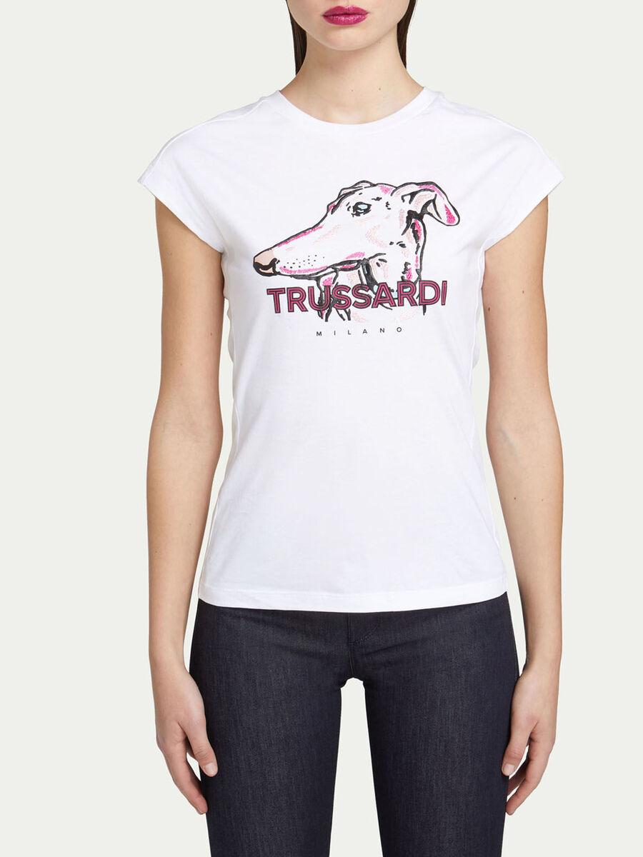 Slim Fit T-Shirt aus Baumwolljersey mit Logo Print