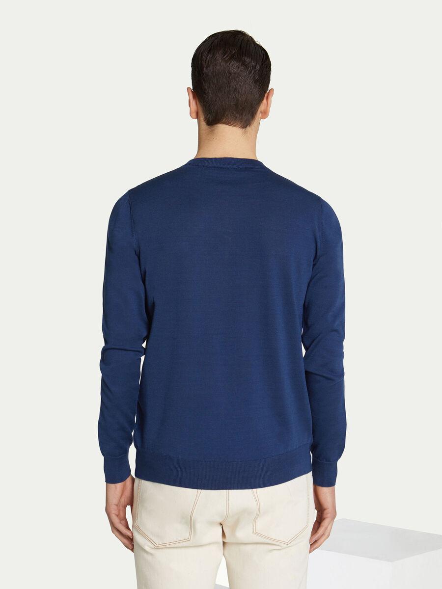 Pullover regular fit in puro cotone con scollo a V