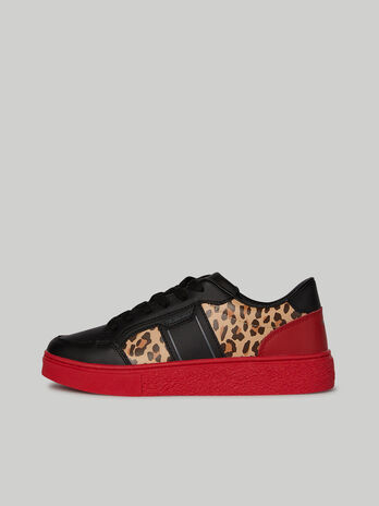 Colour-block leather Diantha sneakers