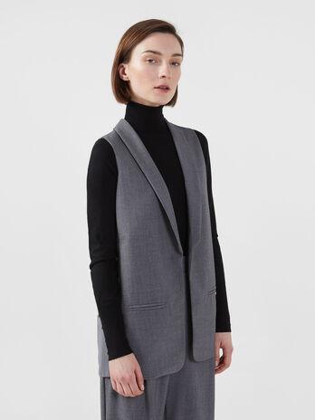 Yarn dyed fabric waistcoat