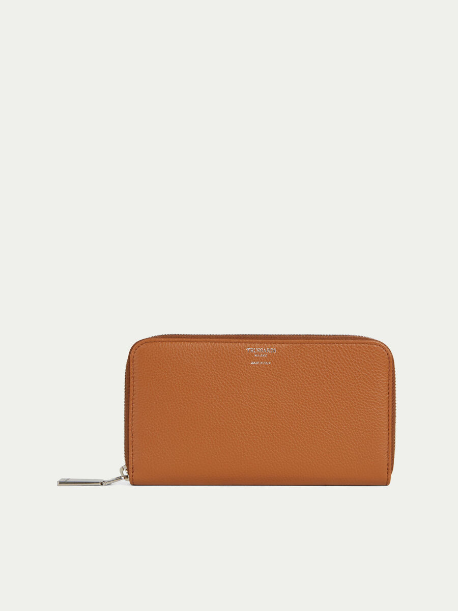 Willer leather purse with external zip