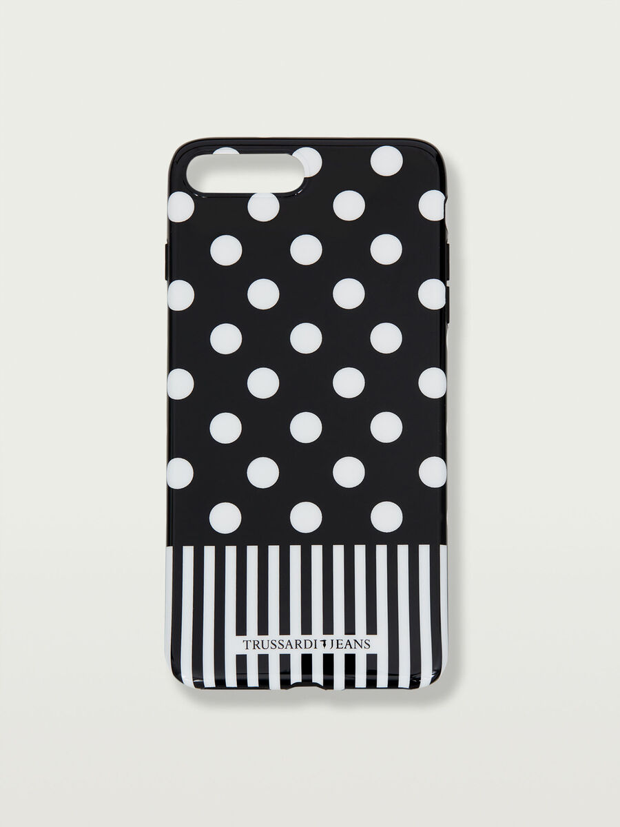iPhone 7Plus soft case with strip and polka dot details
