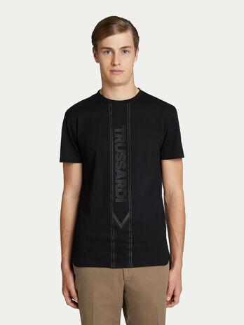 15b0533efa0b T-shirt regular fit in cotone piquet con maxi lettering