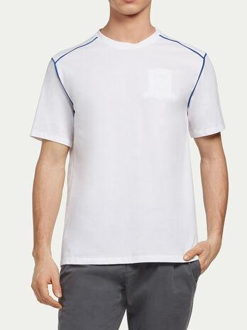 T shirt en jersey pique et bordures
