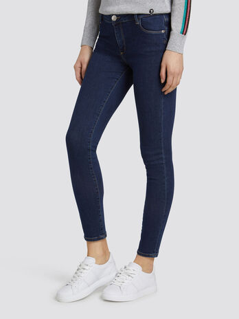 Jean 206 super skinny basic en denim blue washed