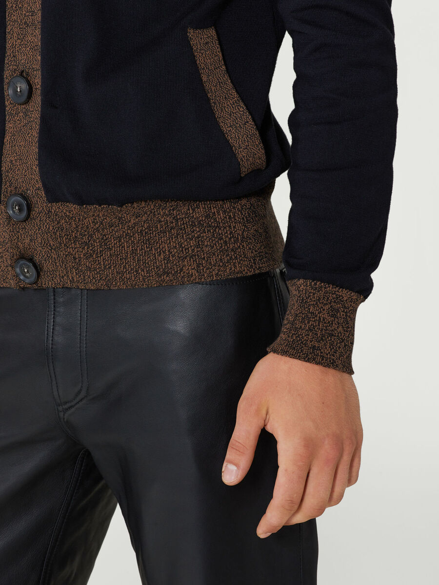 Cardigan im Regular Fit aus Baumwolljacquard