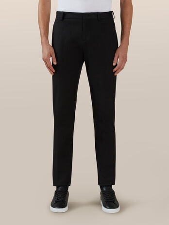 Pantalon chino de corte regular de algodon confort