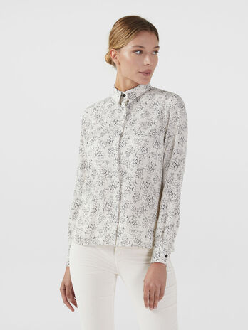 Crepon shirt with floral print