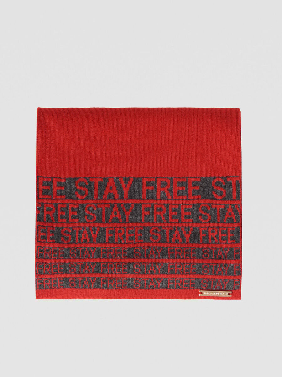 Wool blend Stay Free scarf