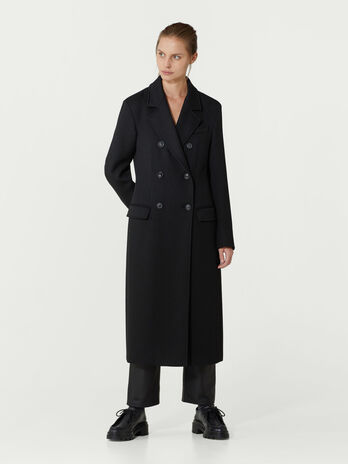 Manteau long croise
