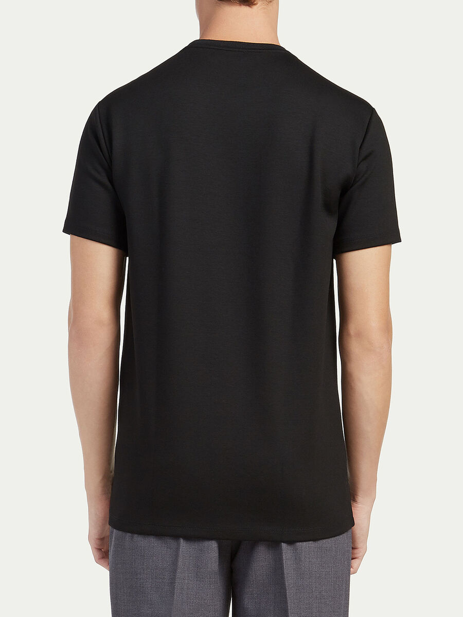 Regular fit jersey T shirt with print