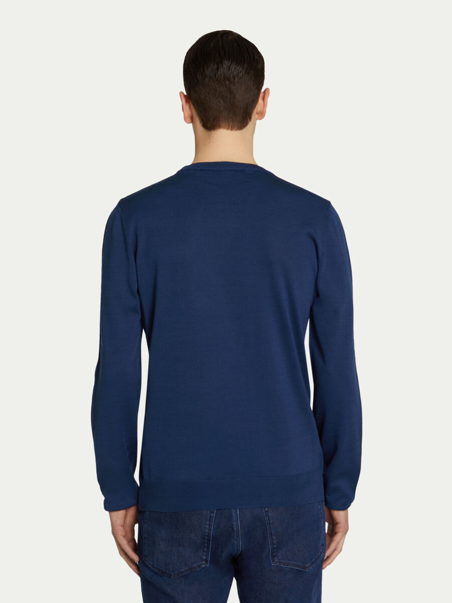 Pullover regular fit in cotone con banda