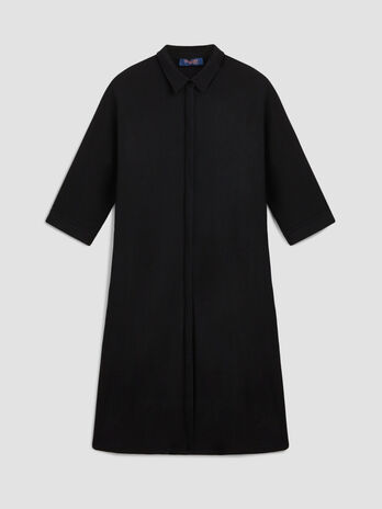 Crepe jersey shirt dress