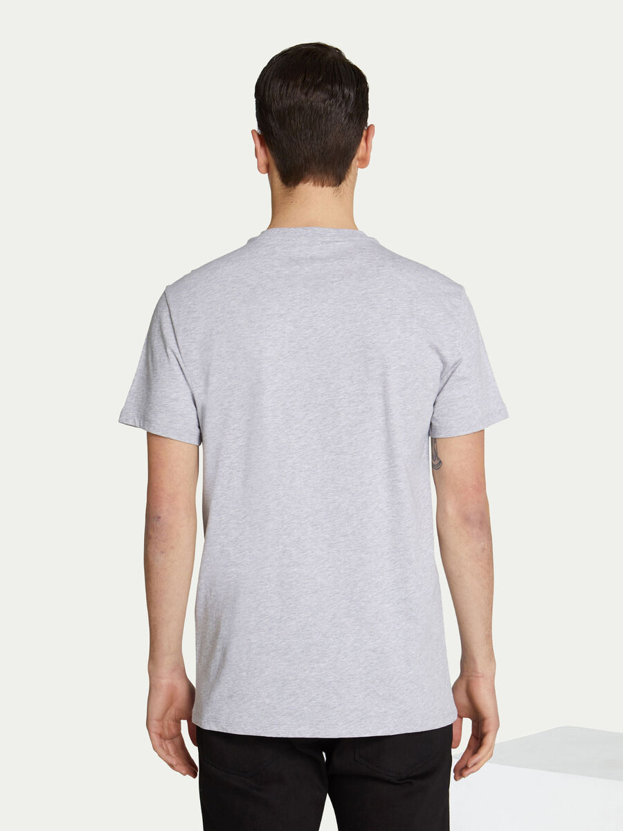 Regular fit cotton jersey T shirt with logo print