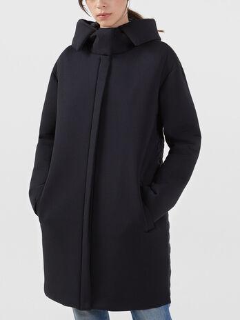 Cappotto in neoprene e nylon