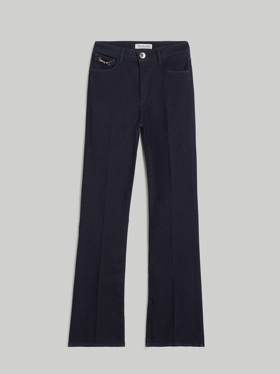 Satin denim New Flare jeans