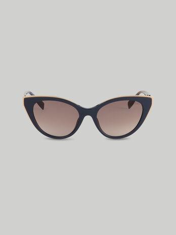 Sonnenbrille aus Acetat mit mehrfarbigen Buegeln