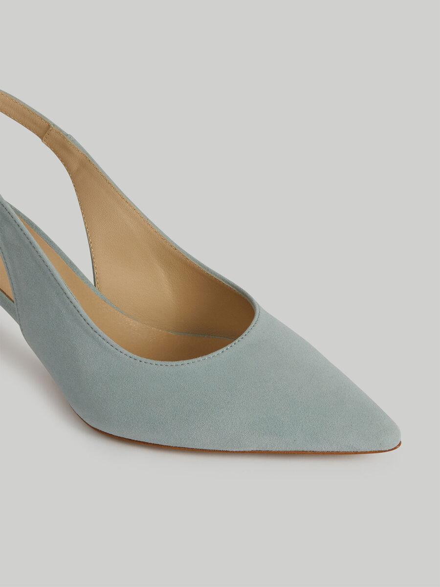 Zapato destalonado de ante