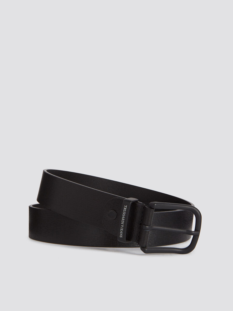 Saffiano effect leather business belt