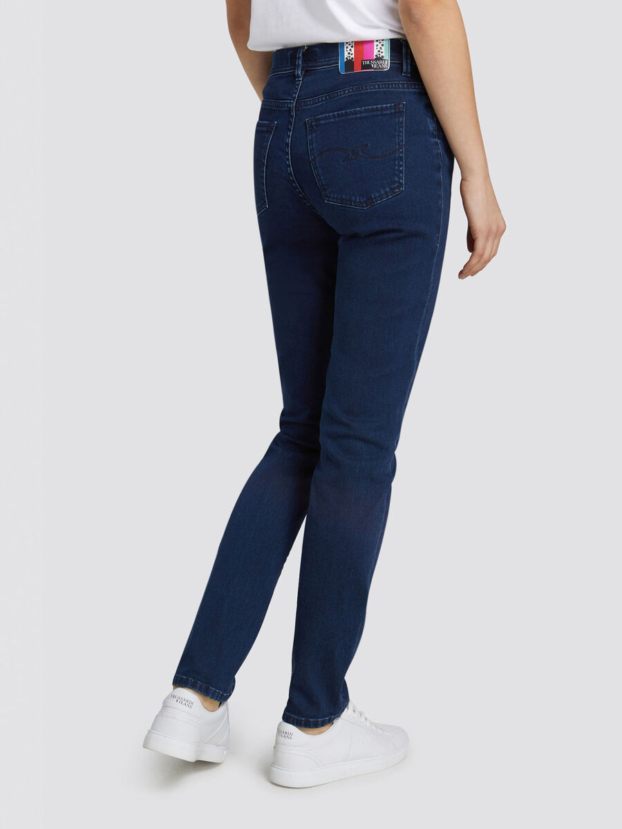 Skinny Seasonal 105 jeans with patterned patch