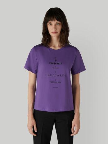 Organic cotton T-shirt with logo prints