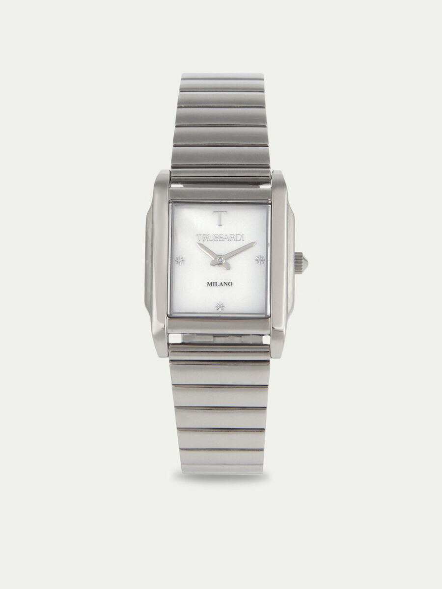 T-Geometric watch with double strap