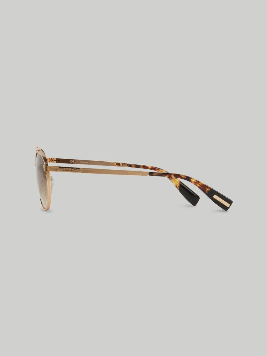 Runde Sonnenbrille aus Metall