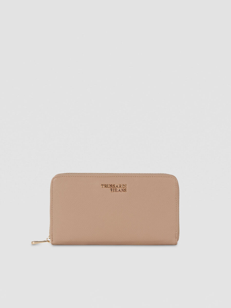 Three pocket light T-Easy purse in faux leather