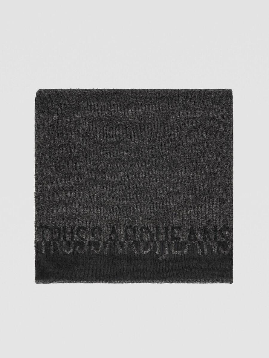 Schal aus Wollmix mit Logo