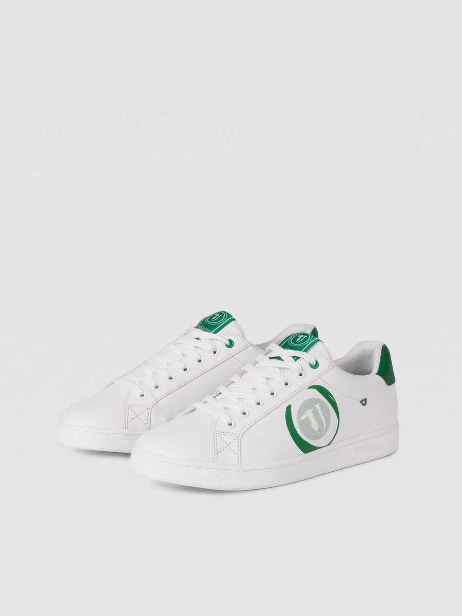 Low Top Sneaker mit Kontrastlogo