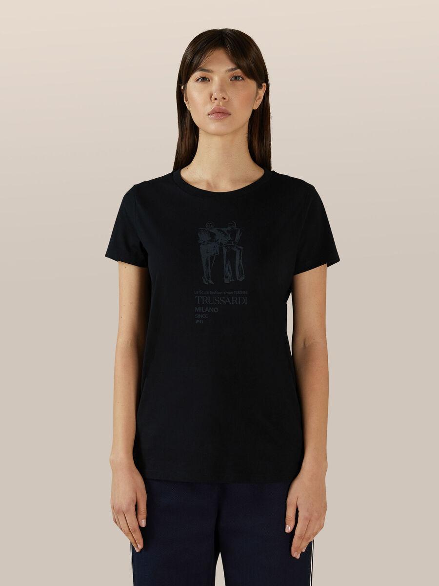 Camiseta corte regular de algodon con estampado vintage