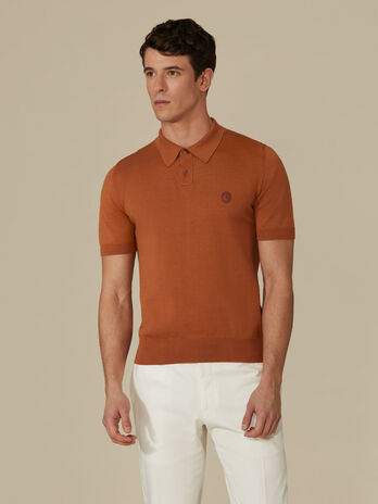 Polo regular fit in filato di cotone