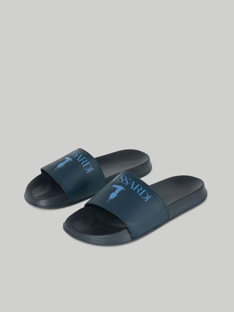 Rubber sliders with branded band