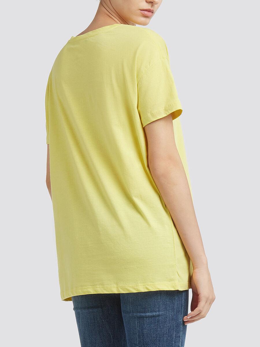 T Shirt aus Jersey mit Logo Lettering