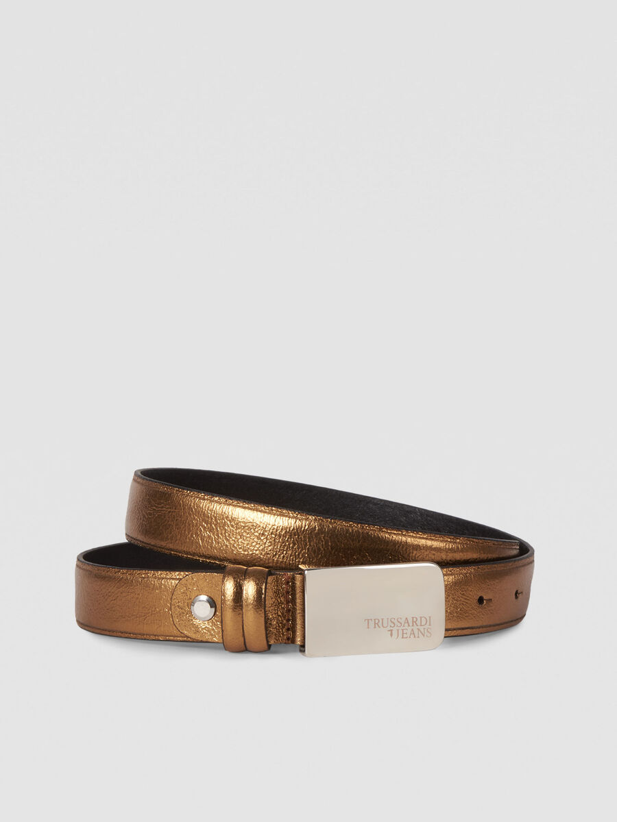 Free Design belt in metallic leather