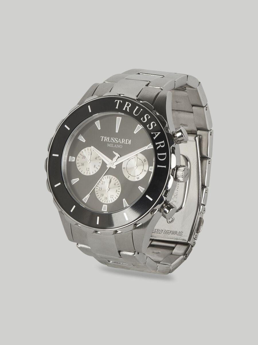 Armbanduhr T-Logo 45MM mit Stahlarmband