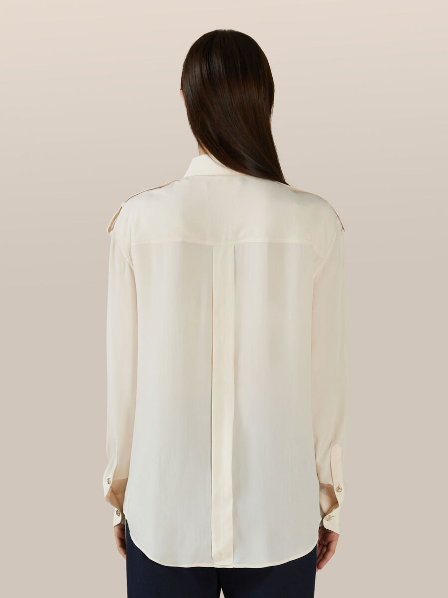 Light silk crepe shirt
