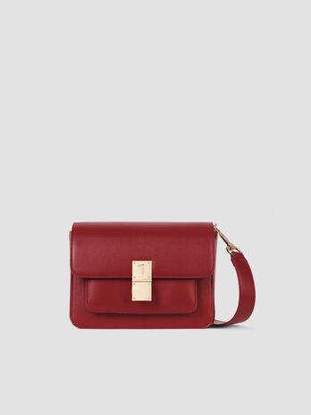 Medium faux leather Lione crossbody bag