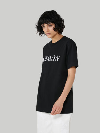 Oversized cotton jersey T-shirt with print